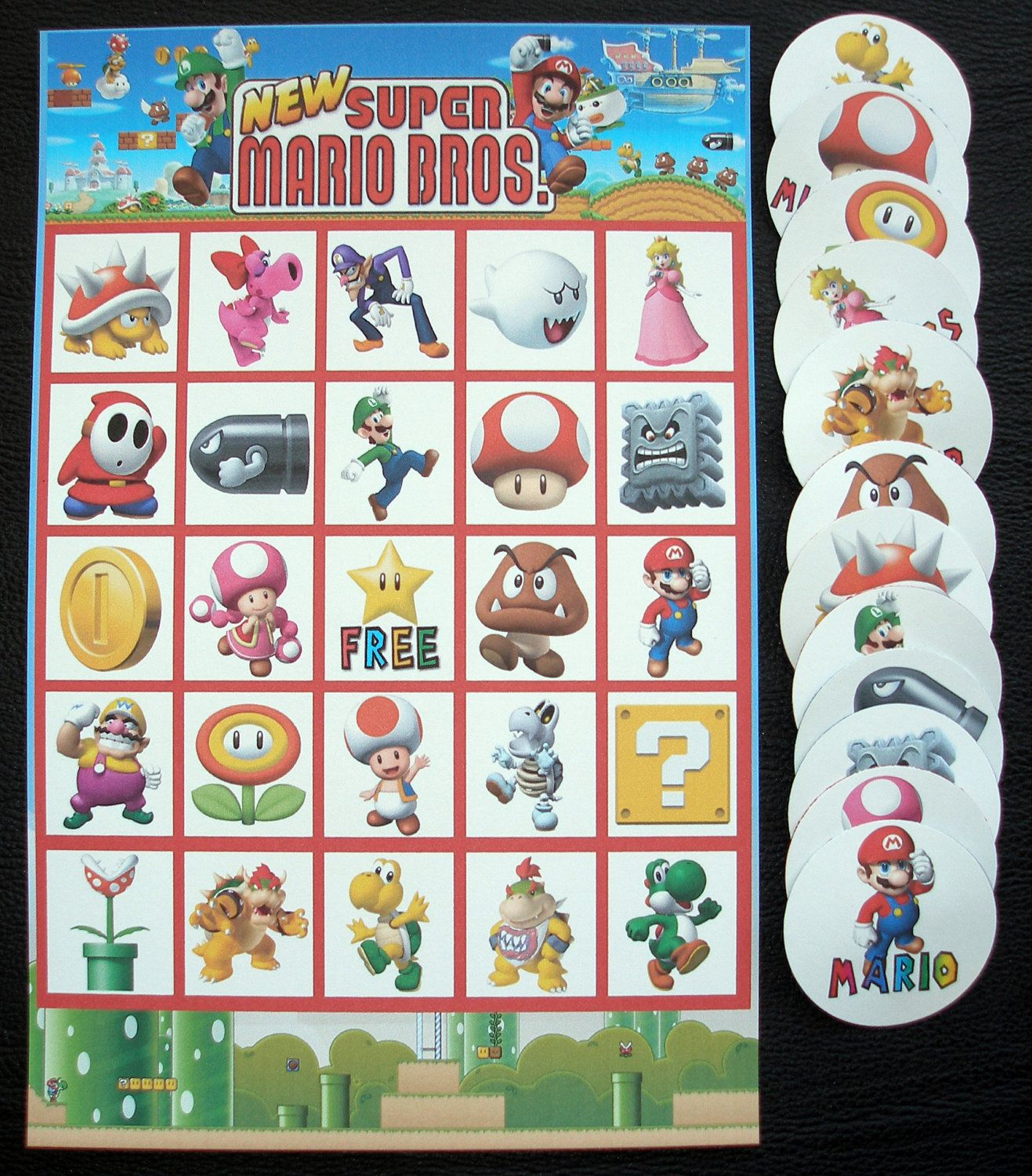 mario birthday games Super Mario Bros Brothers Bingo Birthday