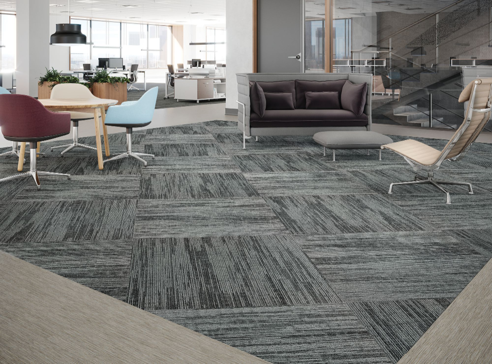 Carpet Tile Infinite Impact Tile Blue Sapphire Mohawk Group