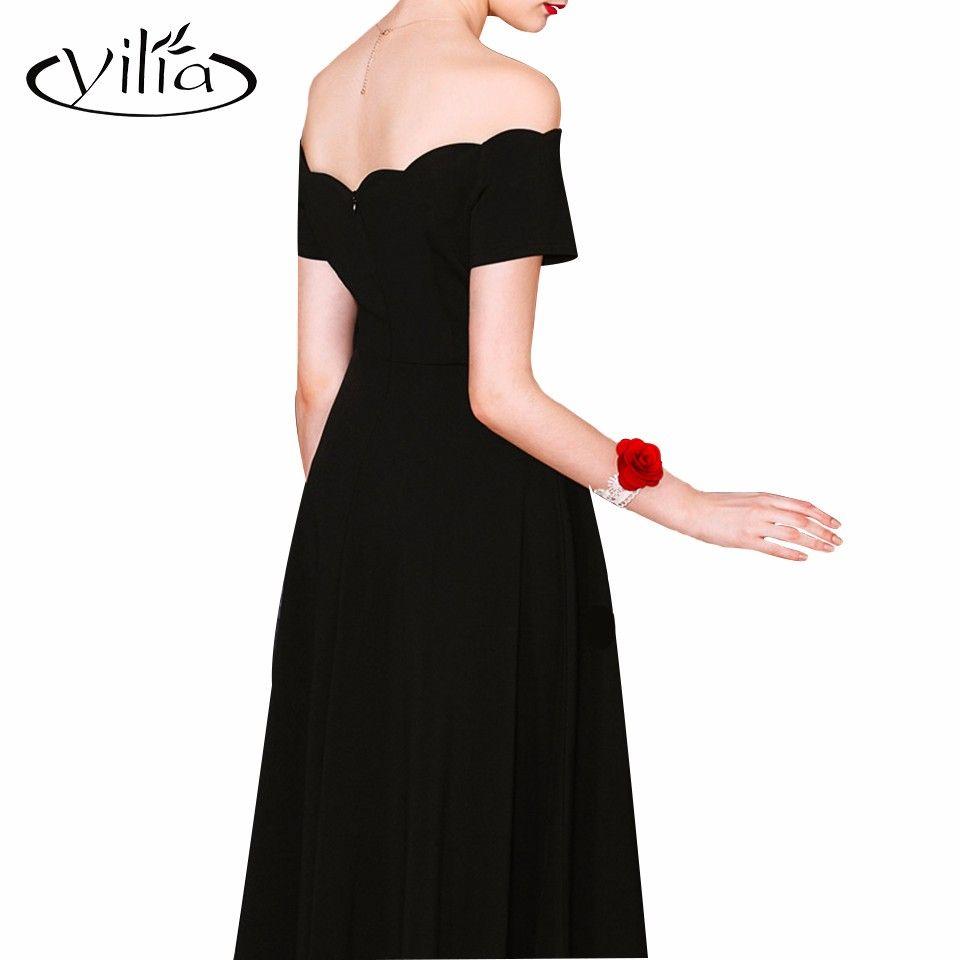 Elegant off shoulder women dress high waist gown dresses yilia party