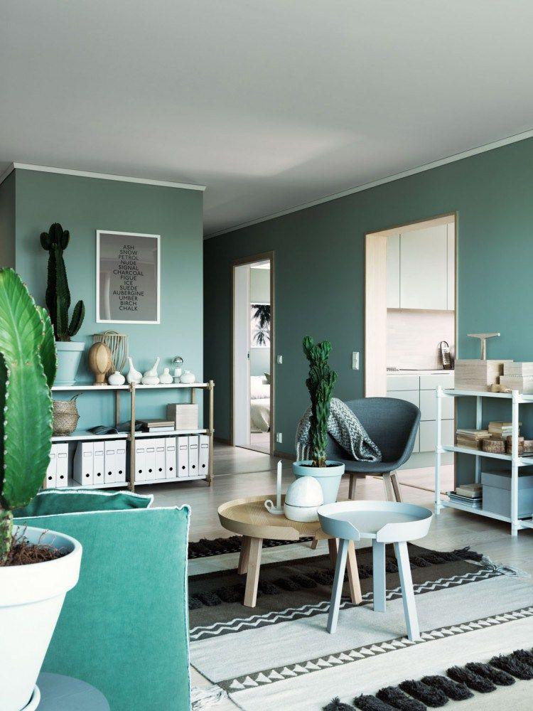 Green wall paint COLOR TREND 2020 mit Bildern
