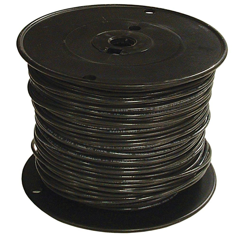 1000 ft. 3/0 Black Stranded CU SIMpull Thhn Wire | Black and Products