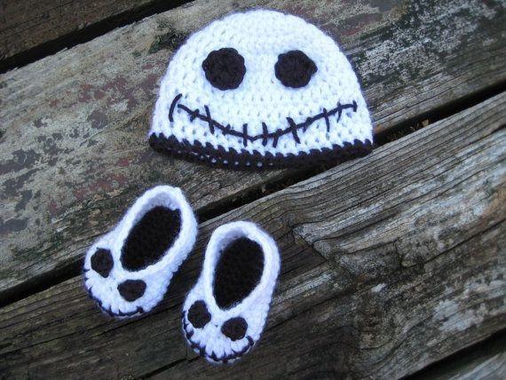Halloween Jack skellington Booties and Hat - Nightmare Before ...