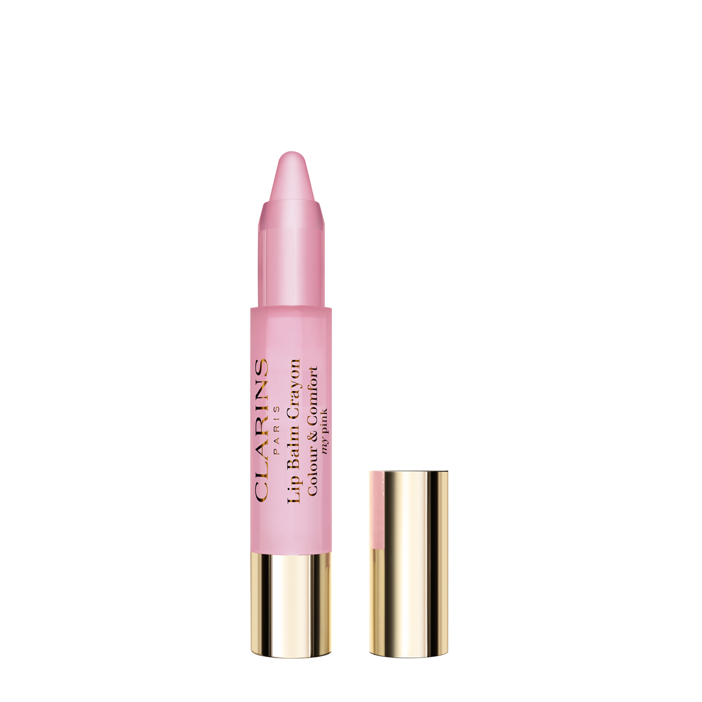 Lip Balm Crayon - A creamy texture that glides over the lips to give a natural, ultra-shiny effect with instant hydration that lasts. • A formula based on mango, apricot and shea butters that moisturizes lips and instantly provides suppleness, comfort and protection. • 6 delicious shades Shade 01 - my pink adapts to the colour of the lips: sensitive pigments react with the pH of lips and instantly boost their natural shade.