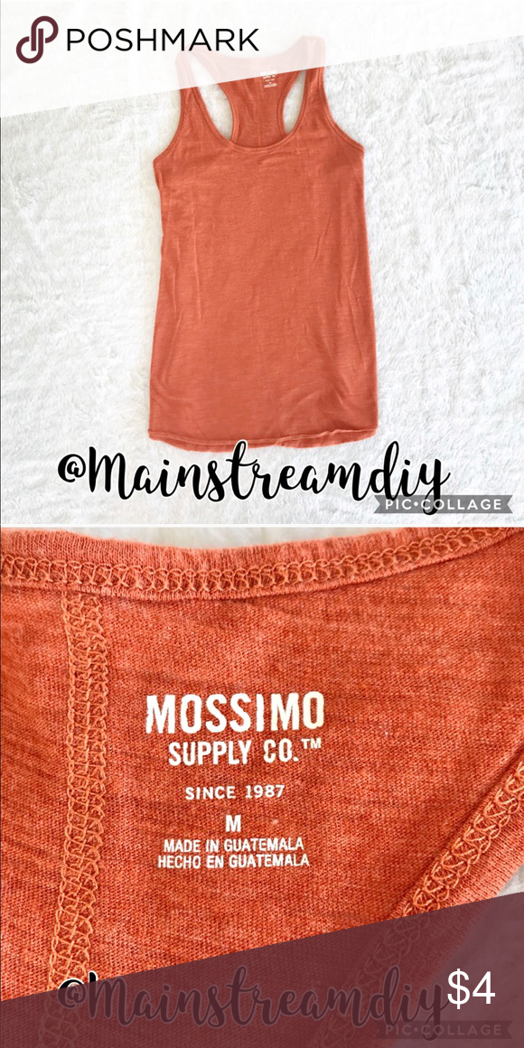 e467e0c2e0264 Orange Tank Top Like new orange cotton Mossimo tank top. Size M Mossimo  Supply Co. Tops Tank Tops