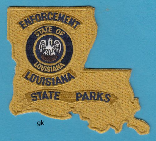 Louisiana State Parks Enforcement State Shape Police Shoulder Patch Police Louisiana Louisiana State