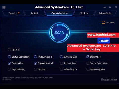 advanced systemcare 10 pro serial keys