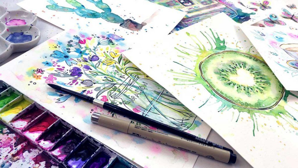 8 Free Watercolour Painting Projects For Beginners Online Art