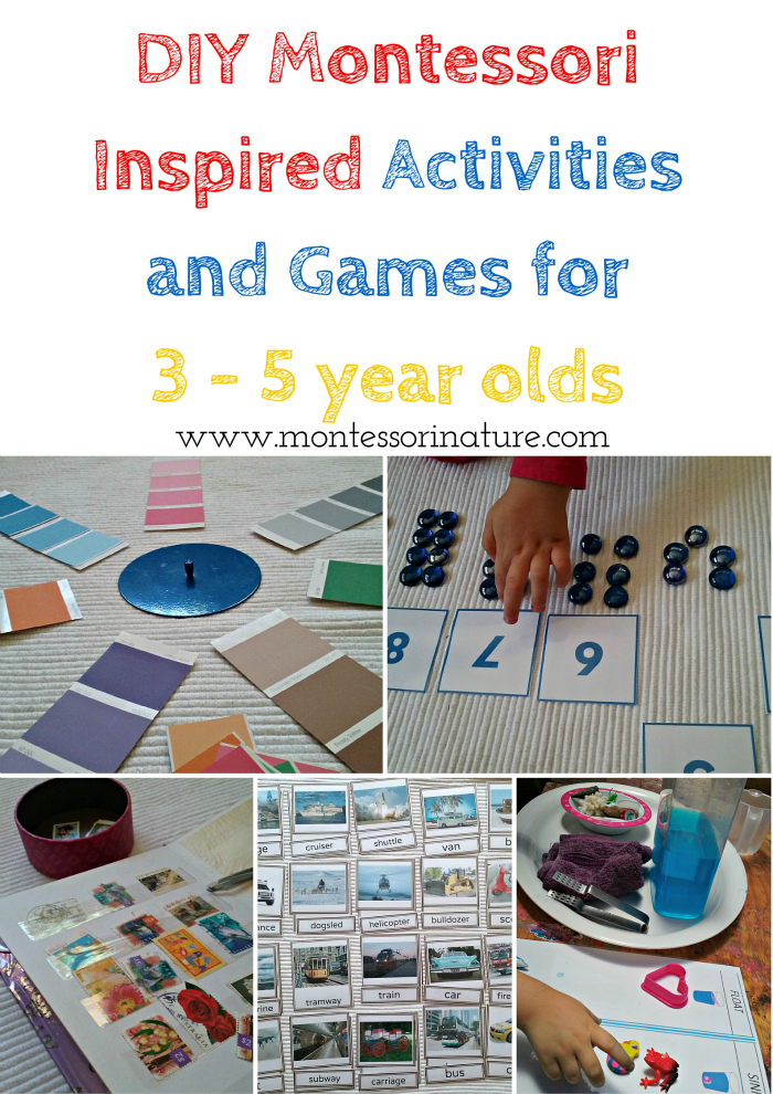 DIY Montessori Inspired Activities and Games for 3 - 5 year olds. | Montessori Nature