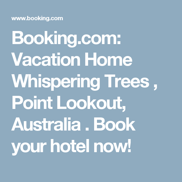 Booking.com: Vacation Home Whispering Trees , Point Lookout, Australia . Book your hotel now!