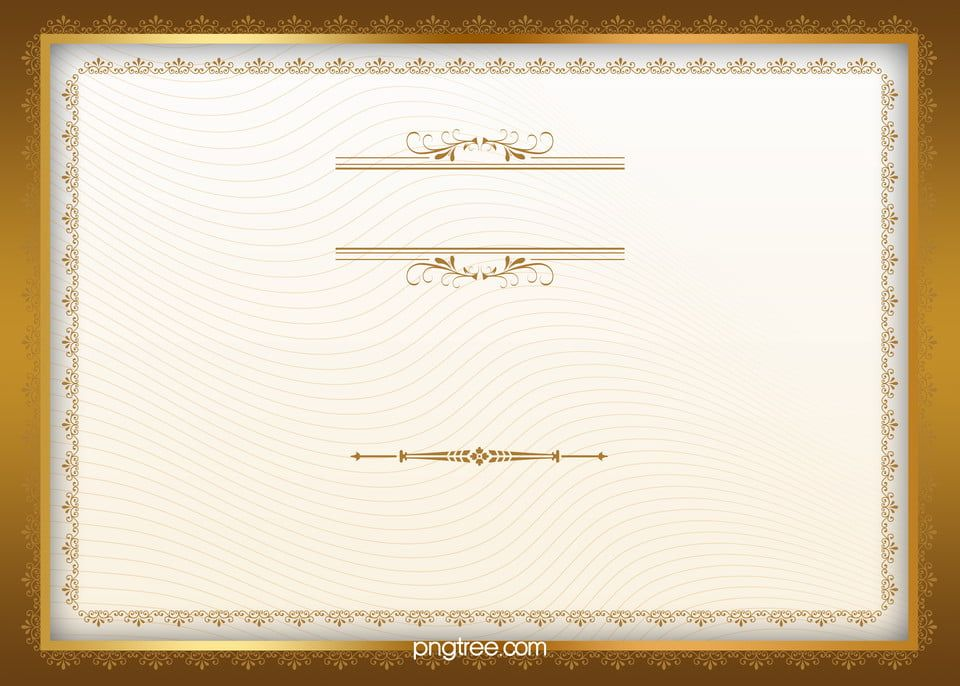 European Certificate Gold Frame Background in 2020 Frame