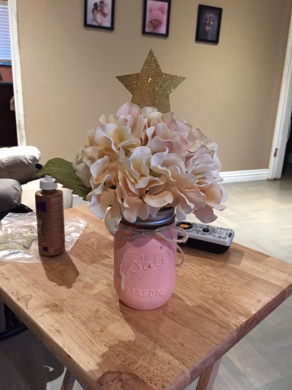 Twinkle Twinkle Little Star Theme. Center Pieces. Mason Jar. 1st Birthday Part 90