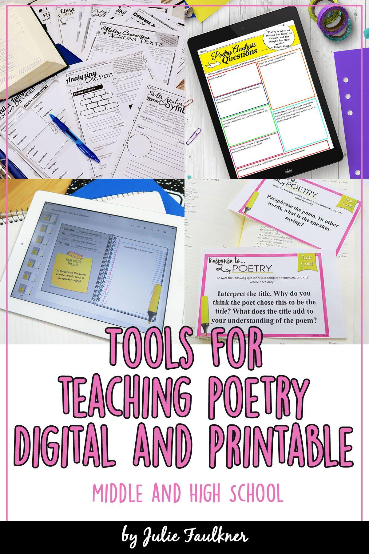 Tools For Teaching Poetry Teaching Poetry Tools For Teaching Teaching [ 1800 x 1200 Pixel ]