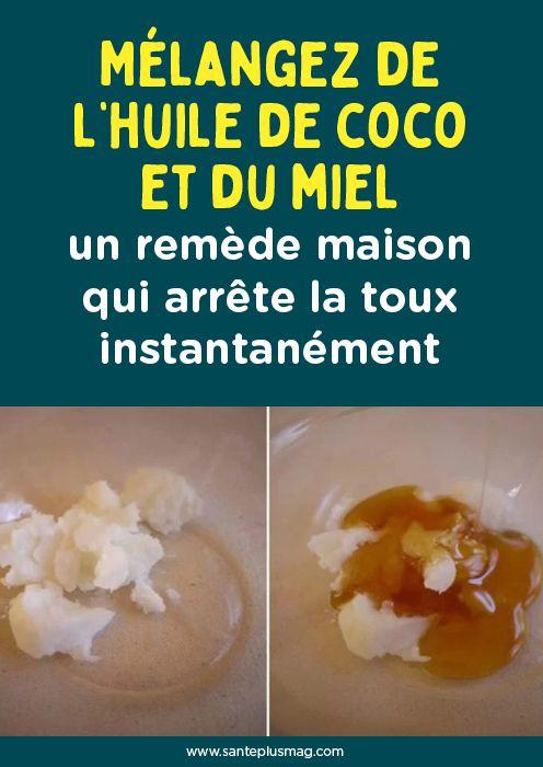 Mélanger l'huile de noix de coco et le miel - un remède maison qui arrête de tousser instantanément