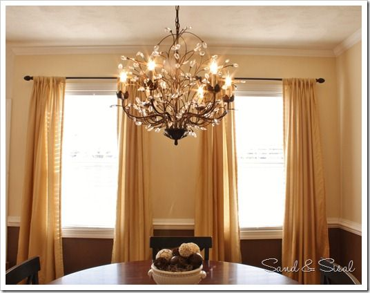 Lighting height guide sisal chandeliers and pottery i love this chandelier it is a pottery barn camilla chandelier knockoff from overstock mozeypictures Choice Image