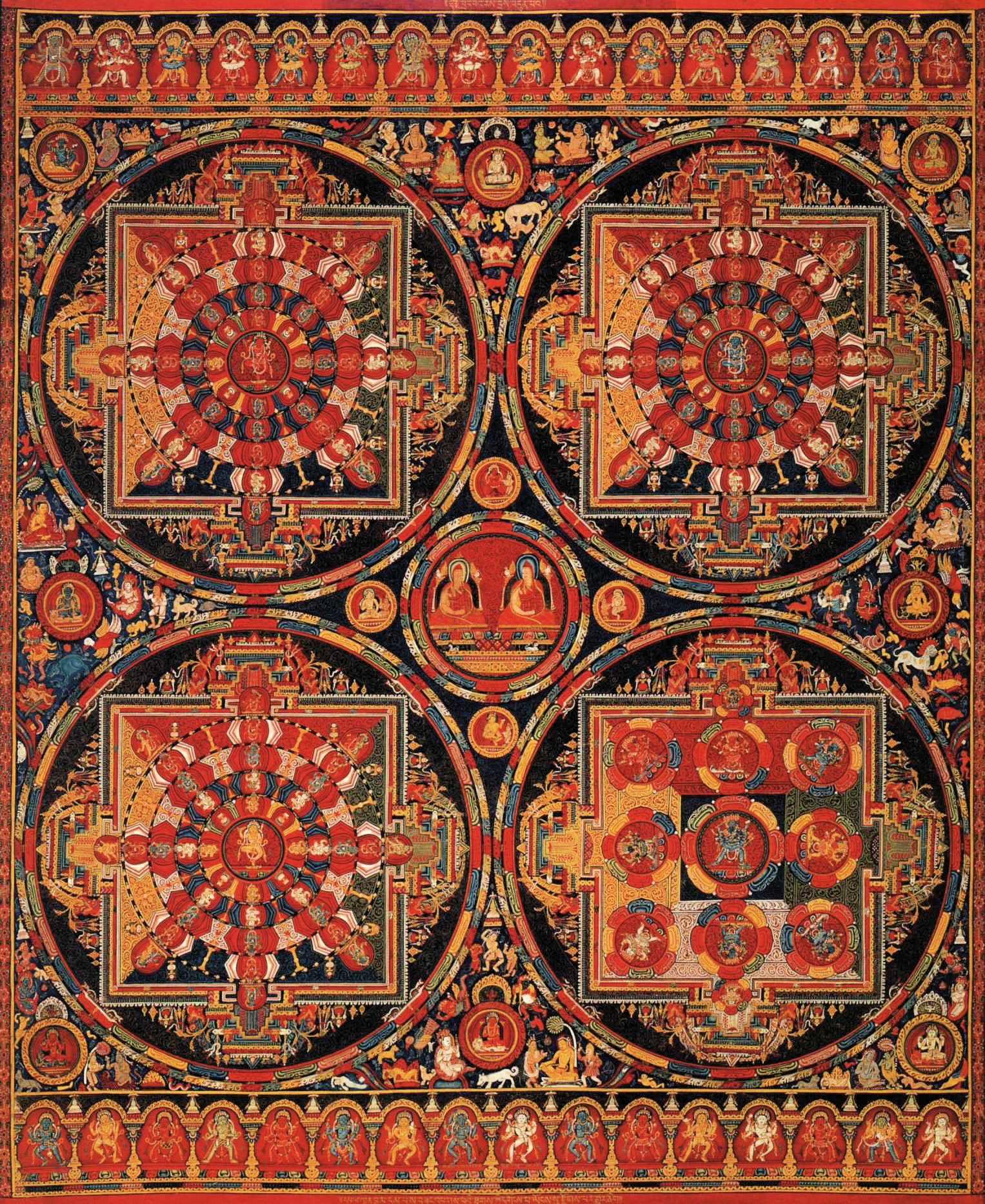 Tibetan mandala rug ehsani fine rugs for Mural mandala
