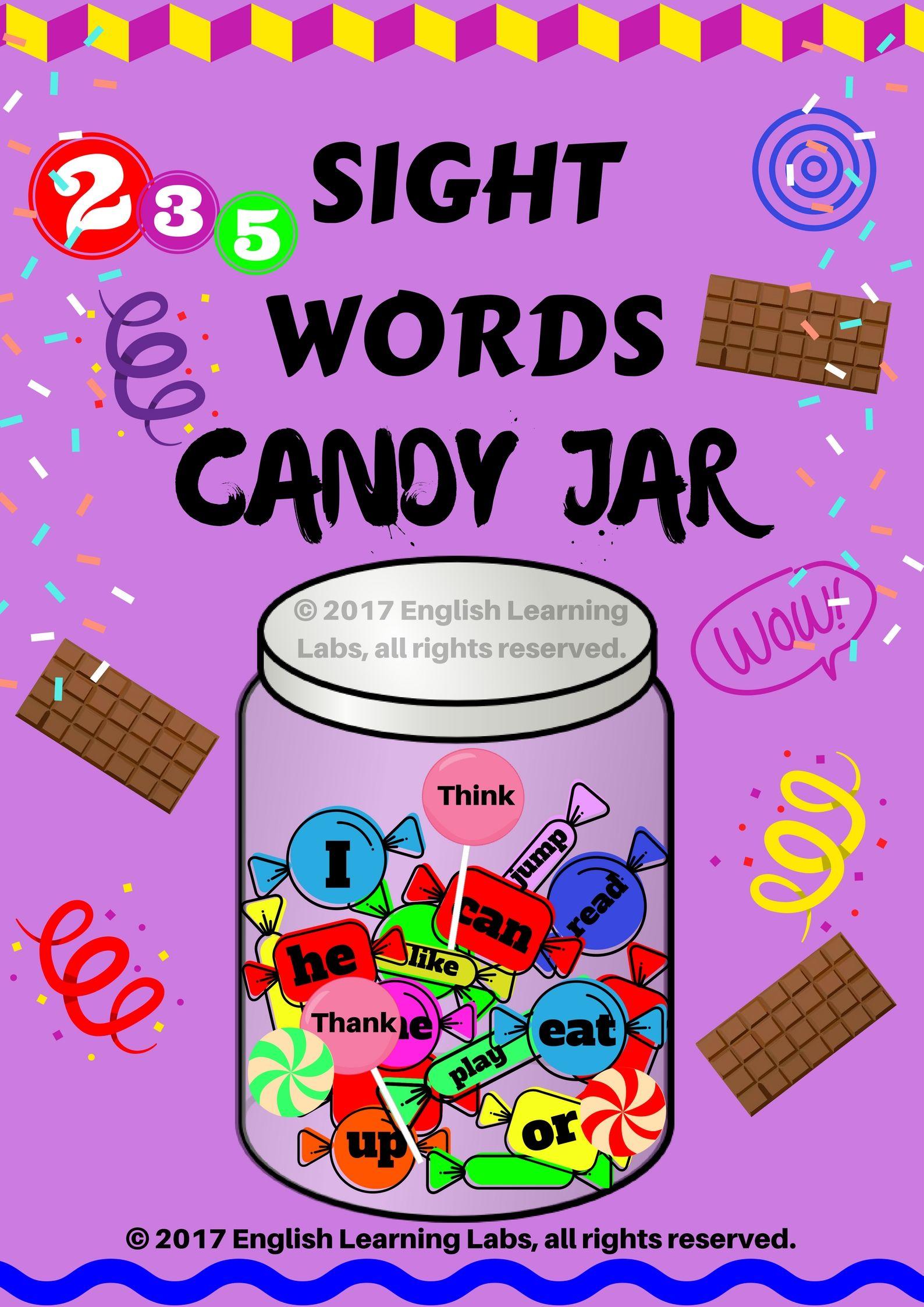Sight Words Candy Jar