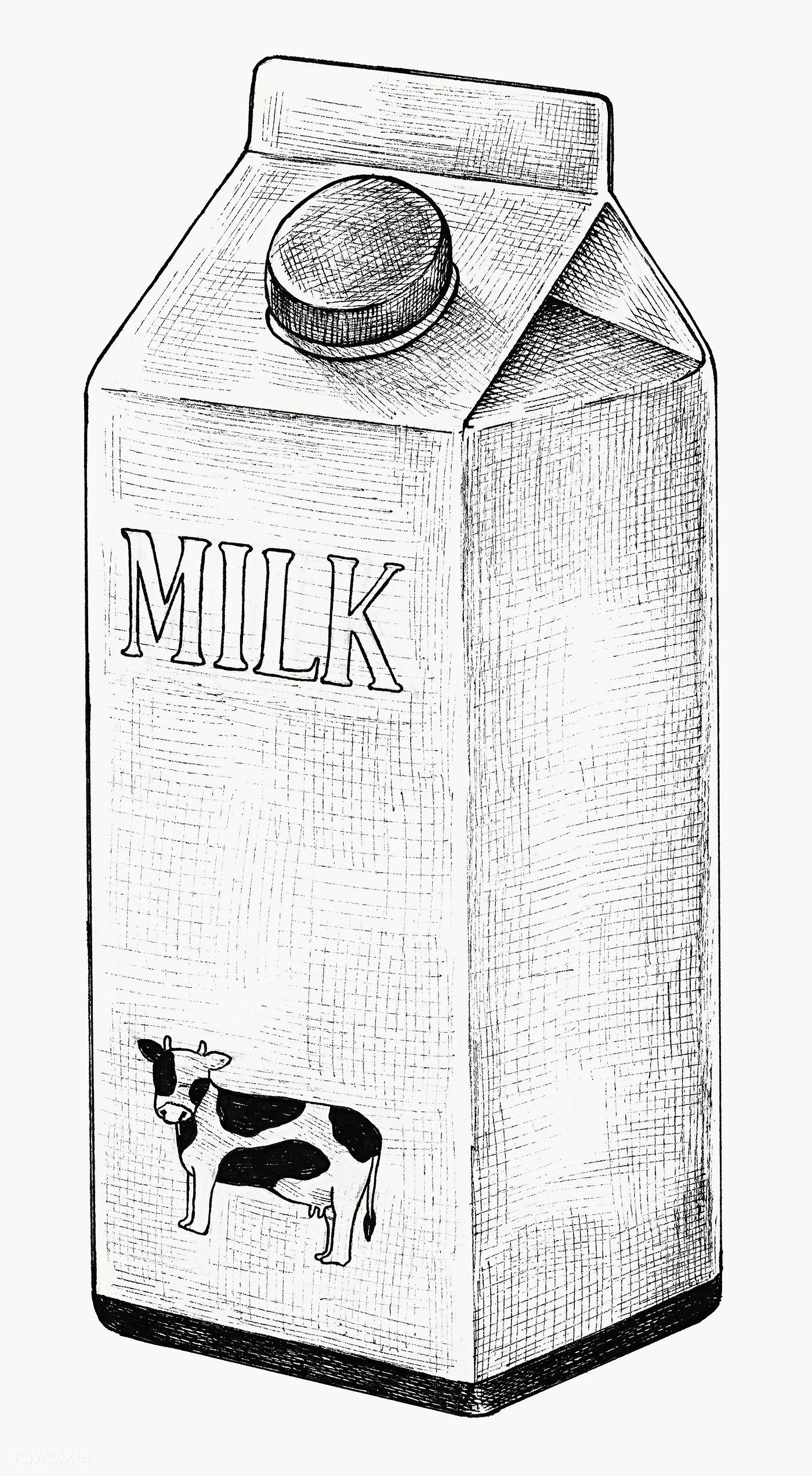 Hand Drawn Carton Of Milk Transparent Png Free Image By Rawpixel Com How To Draw Hands Milk Drawing Object Drawing