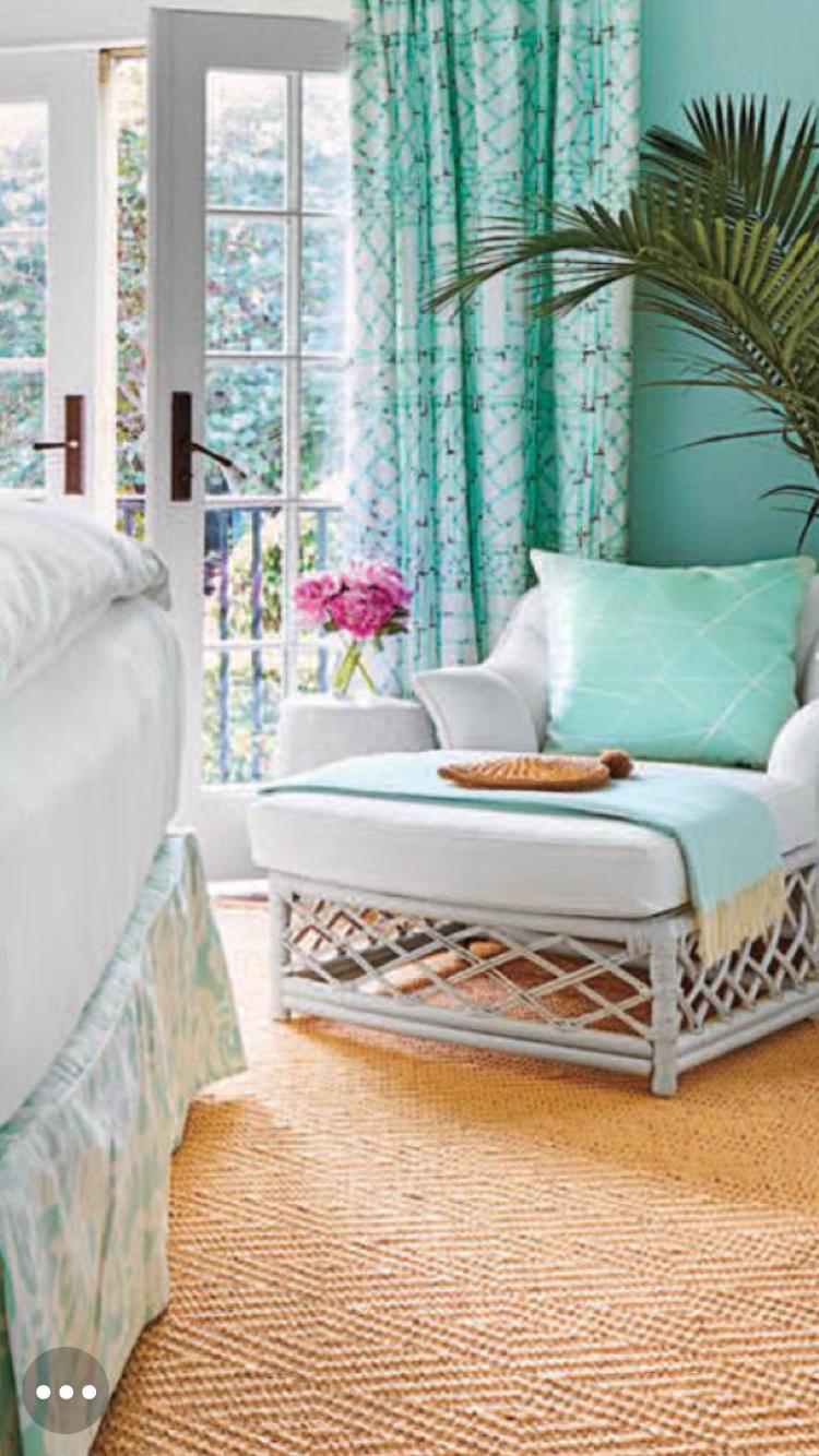 Coastal living Aqua bedroom accent chair | Aqua bedrooms ...