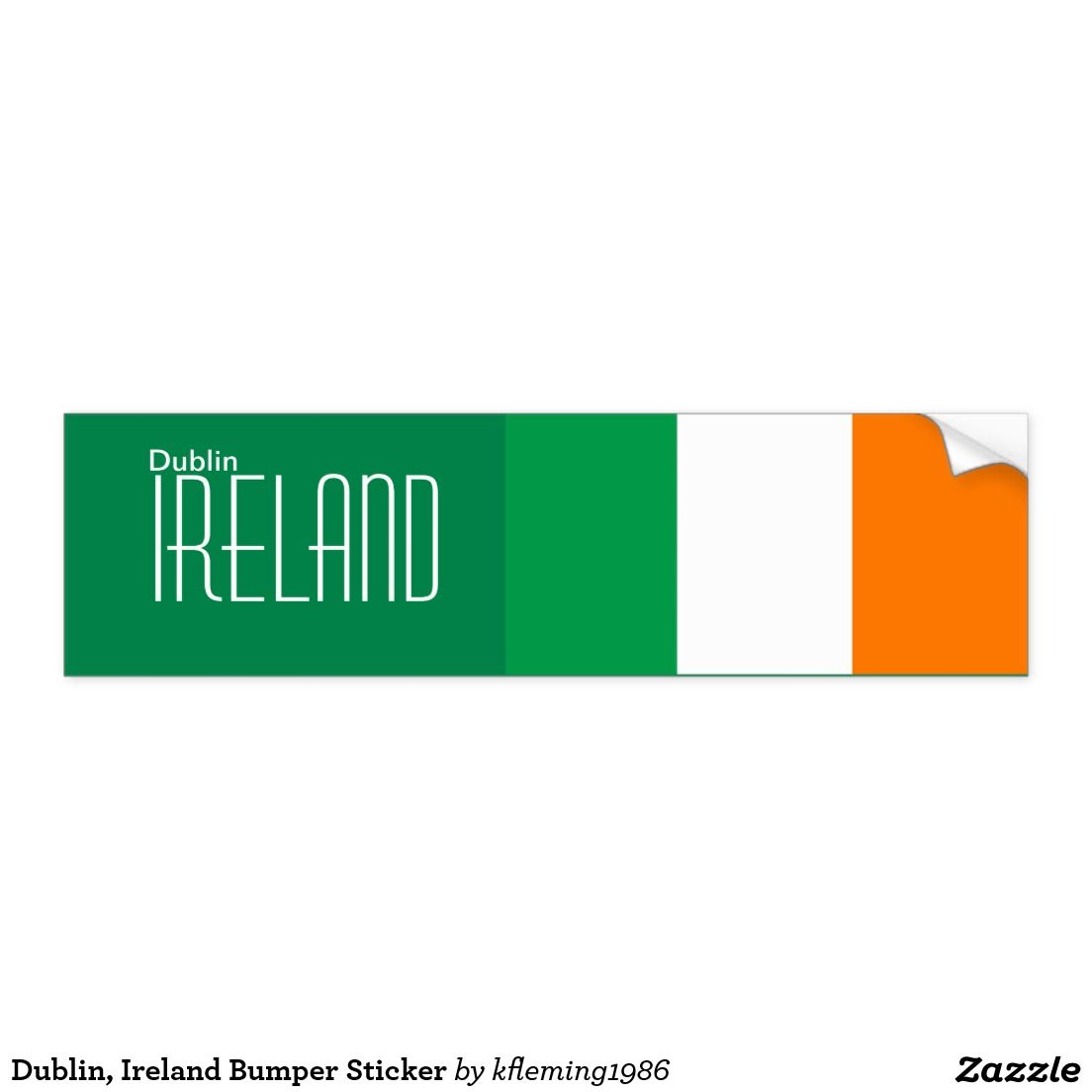 Dublin Ireland Bumper Sticker Bumper Stickers Bumpers Stickers [ 1104 x 1104 Pixel ]