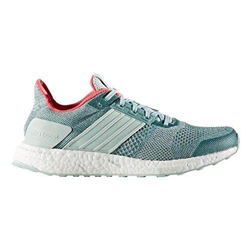 new product b2ec3 6cd5e adidas Performance Womens Ultra Boost St W Running Shoe, Vapour GreenChalk  White
