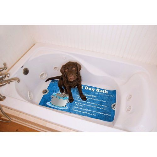 Drymate Dog Bath Mat For Tub And Shower With Stress Free Design 17