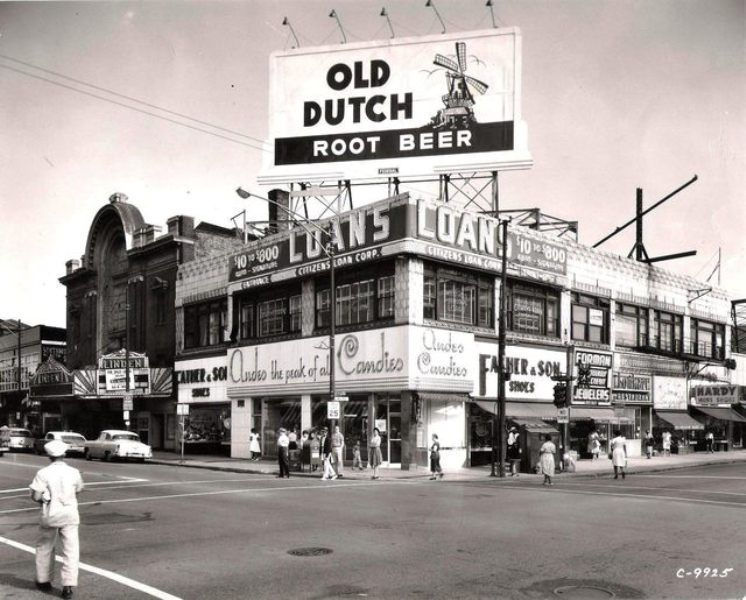 Halsted and 63rd 1957 chicago vintage chicago
