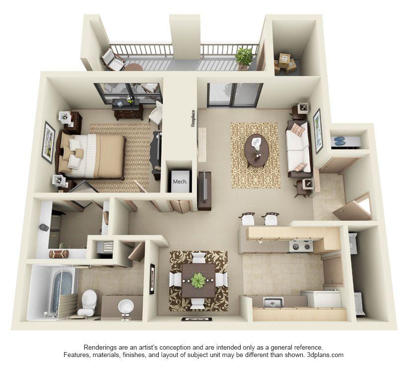 Prospect Park by Ballard   Two bedroom floor plan ...