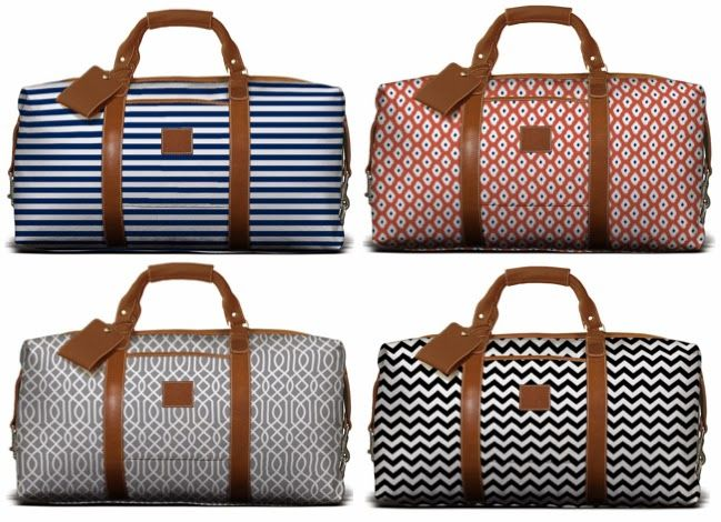 Weekender bag from Barrington Gifts. Custom fabric and monogram ...