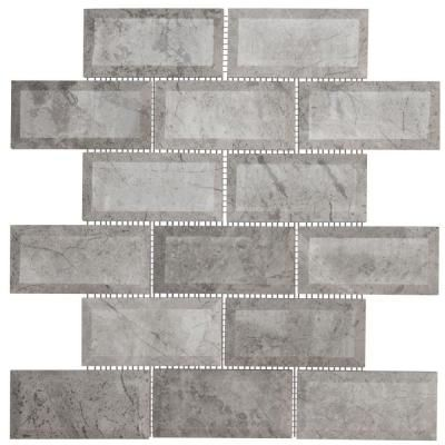 Jeffrey Court Tundra Grey Beveled 12 In X 12 In Marble Mosaic Wall Tile 99652 At The Home Depot 15 99 Jeffrey Court Stone Mosaic Wall Metal Mosaic Wall