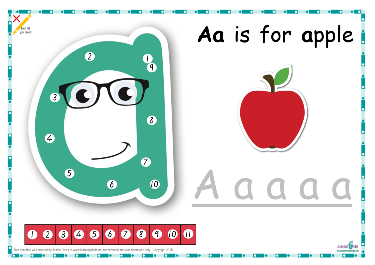 Dot-to-Dot Alphabet Letter Charts   Writing Rules   Pinterest ...