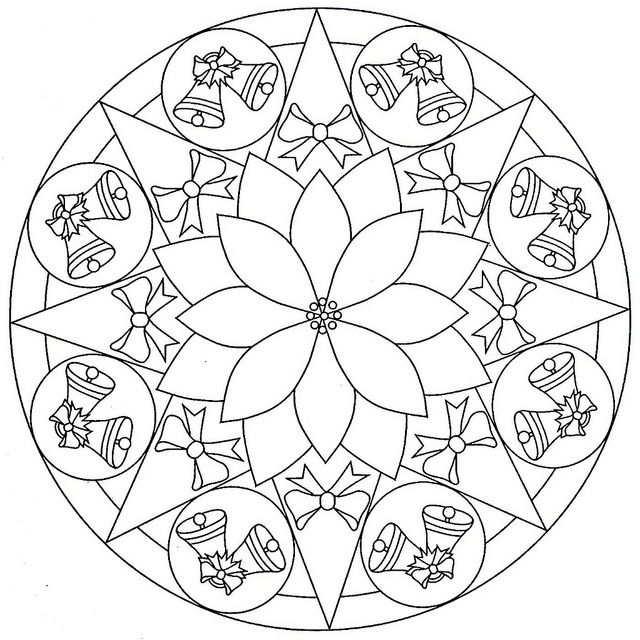 christmas tree mandala christmas coloring pages