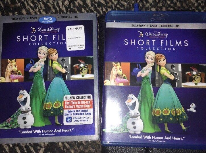 Walt Disney Short Film Collection 2 Disc Set Blu Ray Dvd W