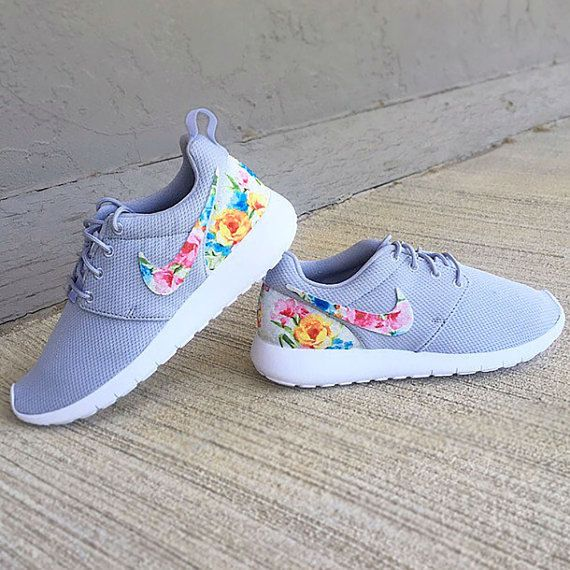 save off 640f9 e4e3c Nike Roshe Run Floral Girls Womens Floral by GymPrincessCustoms