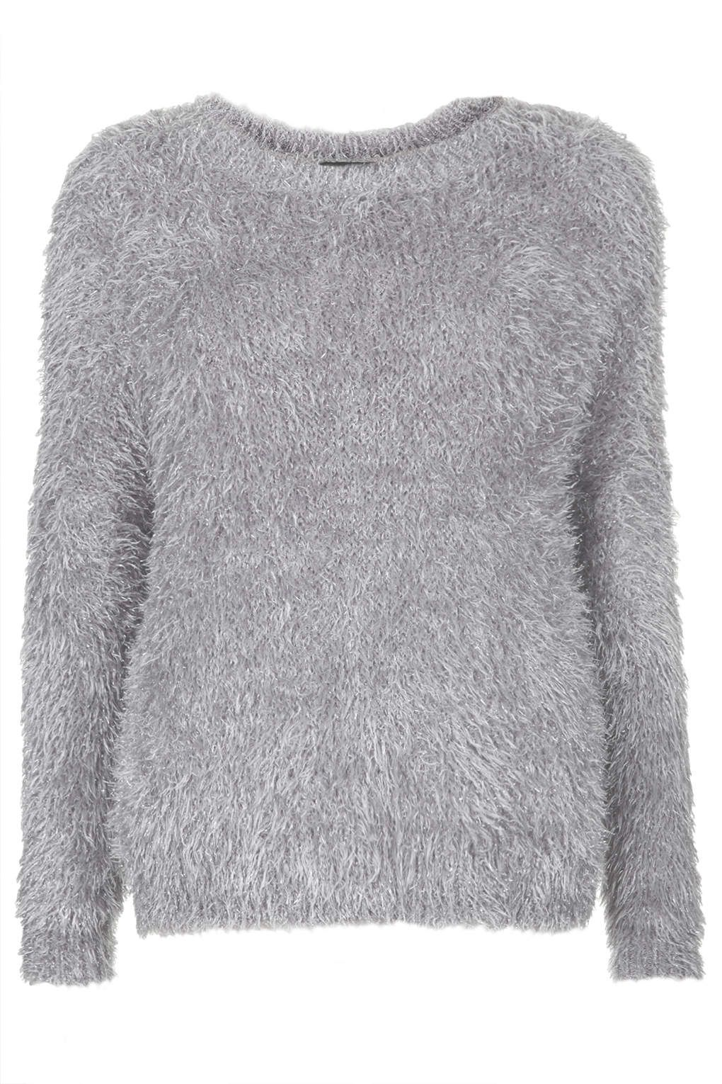 Silver metallic fluffy knit | NIGHTSPOT | Pinterest | Jumper ...