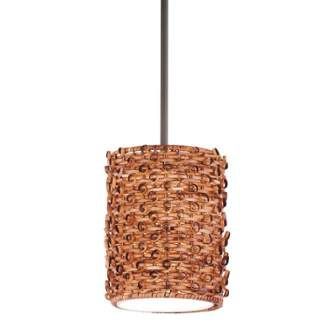 View the Kichler 42085 Single-Bulb Indoor Pendant with Cylindrical Rattan Shade at Build.com.