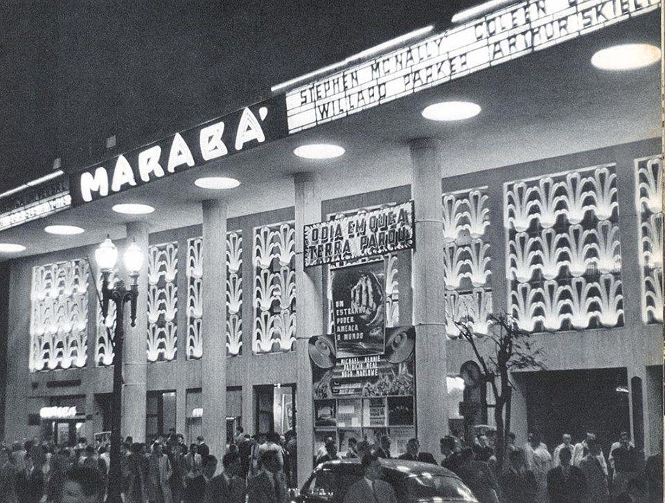 Cine Marabá, inaugurado em 20 de maio de 1944, em uma época de grande efervescência do cinema na cidade. Foto: São Paulo Antiga.