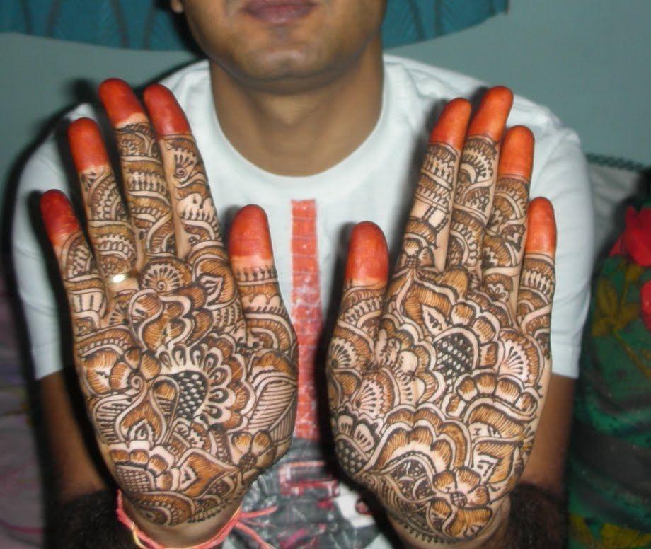 marriage mehendi designs for boys