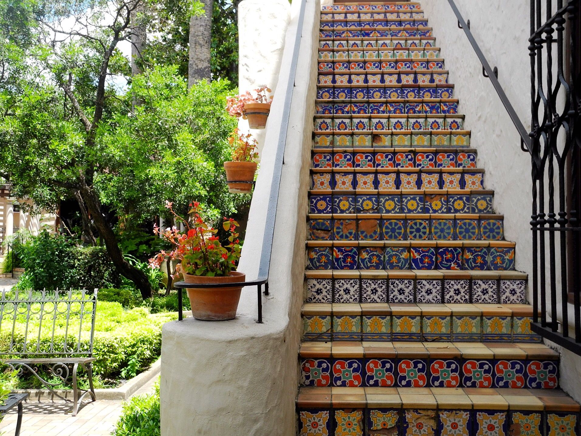 A San Antonio Art Pastry Day Trip Mcnay Stairs Tile Stairs