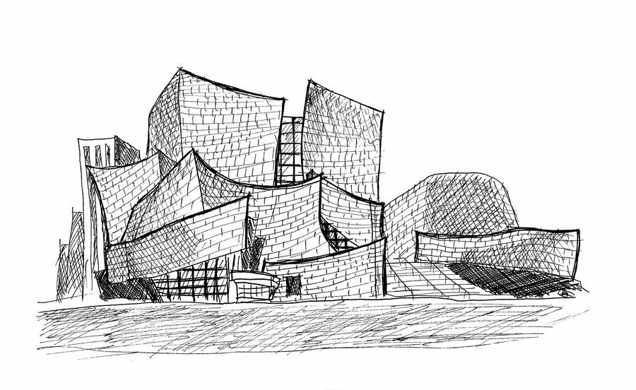 Resultado De Imagen De Walt Disney Concert Hall Sketch Studarc