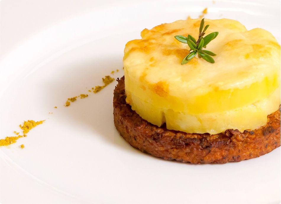 Burger Sojasun con gateau di patate - Sojasun - (Discover Sojasun Italian Facebook, Pinterest and Instagram Pages!)