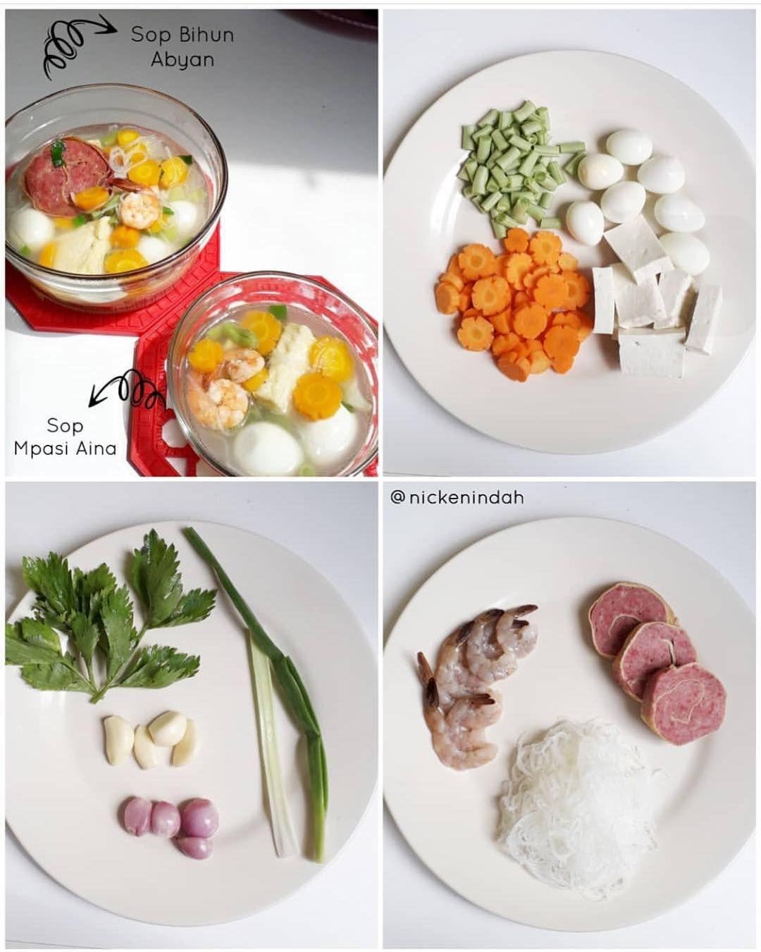 Resep By Nickenindah Menu Abyan Aina Sop Bihun Bihun Jagung Rebus Udang Telur Puyuh Rebus Rolade Daging Sapi Wortel Bunc Makanan Daging Sapi Rebusan