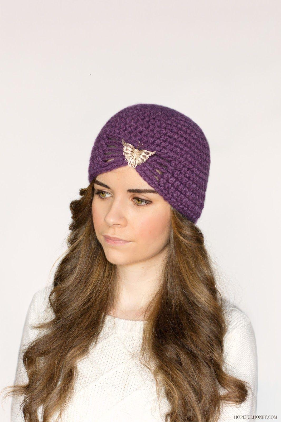 1920\'s Jewel Flapper Hat Crochet Pattern | Flapper hat, Hat crochet ...