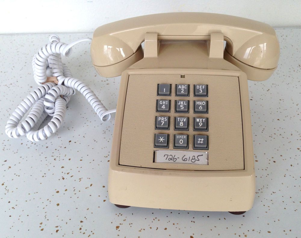 Vintage Cortleco Touchtone Corded Telephone #Oldschool