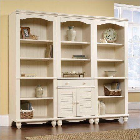 Home White Bookcase Large Bookshelves Sauder Bookcase