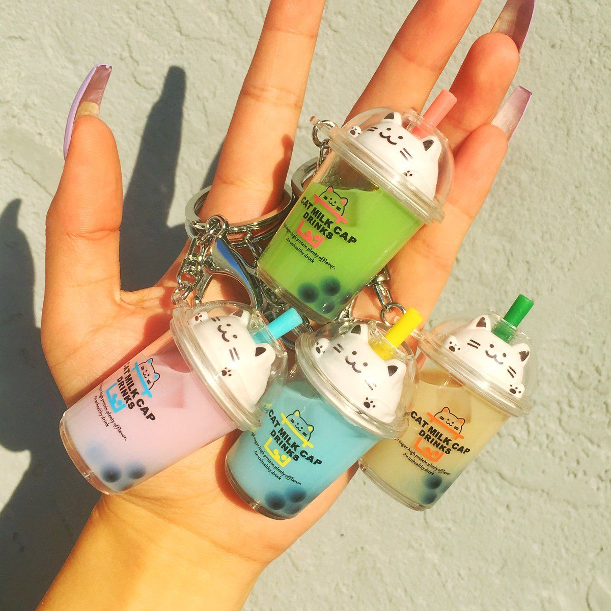 Cat milk tea boba keychains in 2020 with images milk tea
