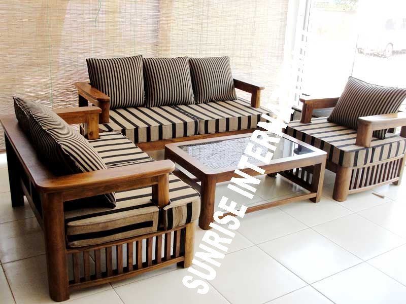 Image for Sofa Sets Wooden Sunrise International Wooden Sofa Sets u L Shade Sofa Set