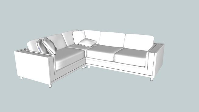 Large Preview Of 3d Model Of L Shape Sofa