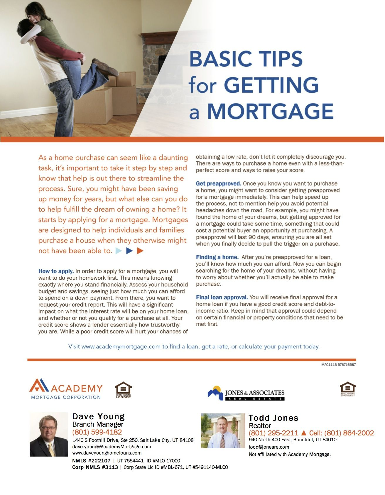 Outlines Basic Tips For Getting A Mortgage And Streamlining The Loan Process Loans For Bad Credit Buying First Home Tips