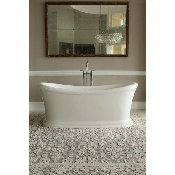 Awesome Signature Bath White Acrylic Freestanding Tub