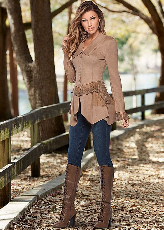 Step your way into fall with this faux suede look! Venus faux ...